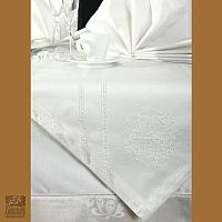 Obrus 160 x 280 cm srebro haft CHO/CLASS/SREB