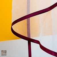 Lambrekin szer 240-150 cm/wys 48 cm tafta bordo-sztywnik+szal organtyna biel kresz - PRZECENA