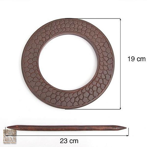 Upinacz koło drewn. bc  brąz wąż U/882-1