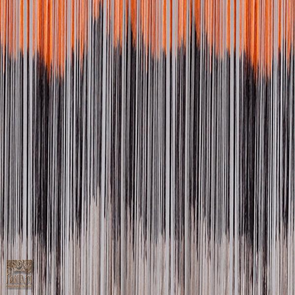 Spagetti 140 x 250 cm brąz + pomarańcz SPAG/T/RAIN/POMA