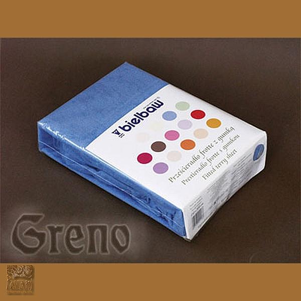 Prześcieradło 100/200 frotte zg 11 niebieski GRENO