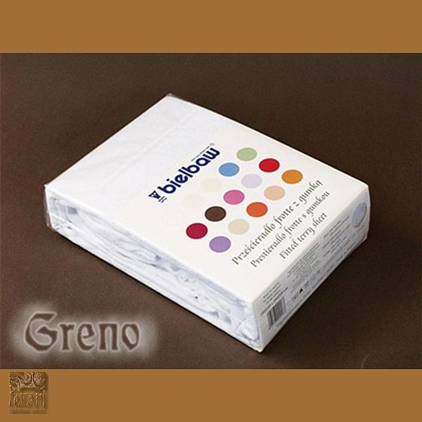 Prześcieradło 180/200 frotte zg 1 biel GRENO