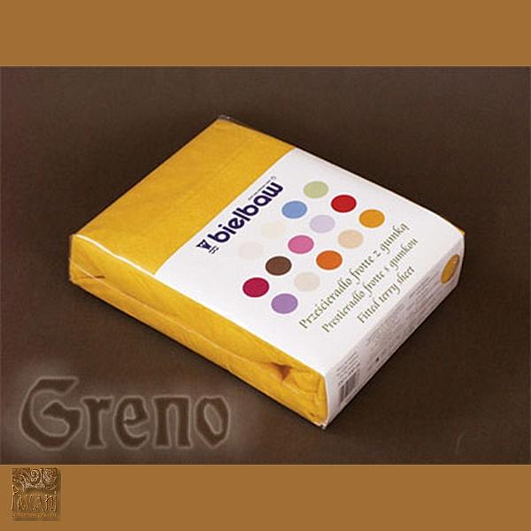 Prześcieradło 200/220  frotte zg 29 c żółty GRENO