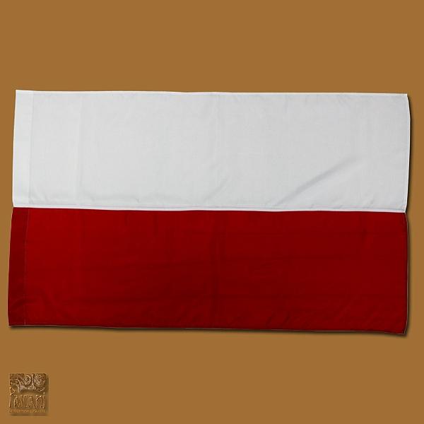 Flaga biało-czerwona 80 x 110 cm druk dzianina