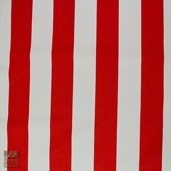 Markizówka biało-czerw pasy tkana 160 cm