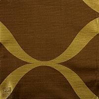 Zasłona na kołach szer 140 cm/szer 250 cm  j brąz z oliwką duże fale pionowe ZAS/4-3