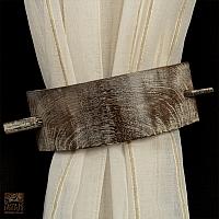 Szal szer 140 cm/wys 230 cm na szelkach z tkaniny lnianej w prążek