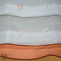Roleta rzymska Słomka szer 140 cm/wys 140 - 290 cm woal biel w kolorowe ślimaczki