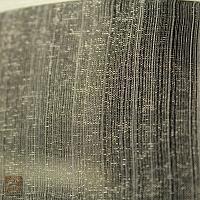 Firanka szer 310-150 cm / wys 85 cm organtyna kremowo-oliwkowa, prążek z lamówką