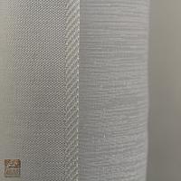 Firanka szer 240-110 cm/wys 131 cm batyst ecru w pionowe pasy, z szeroką listwą z wzorem