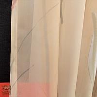 Dwa szale szer 140-60 cm/wys 230 cm woal druk tulipany
