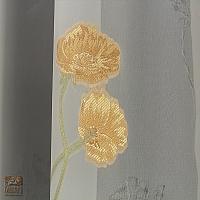 Firana szer 360-180 cm/wys 230 cm woal ecru aplik kwiat złoty