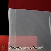 Roleta rzymska szer 107 cm/wys 245-120 cm woal biel + czerwona listwa górą