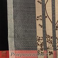 Firana szer 185-110 cm/wys 75 cm org. kopry z lamówką, na taśmie włosy