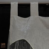 Firana szer 140 cm/wys 182 cm z lambrekinem na szelkach i z listwą dołem