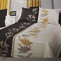 Pościel 160 x 200 cm + 70 x 80 cm Emma czarny + biel POS/EMMA/CZAR+B