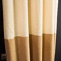 Szale szer 140-70 cm/ wys 250 łączone z trzech kolorów shantungu wykończone listwą na dole