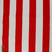 Markizówka pasy biało-czerw tkana 160 cm