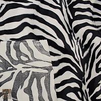 Dzianina zwierzaki 10 zebra czarno biała