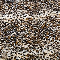 Dzianina zwierzaki 01 gepard nakrapiany brąz krem czarny