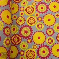 Markizówka szara w żółto-czerwone kwiaty szer.160 200582 wz.4T-5684-4