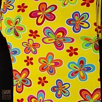 Leżakowe BT299/45 kwiaty karnawał ( na żółtym tle )