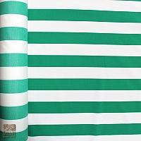 Markizówka pasy biało-zielone szer 155